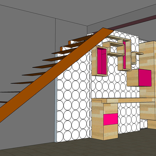 Architecture intérieure pour une maison contemporaine