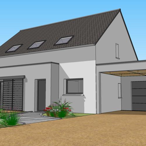 Construction maison neuve - TREFFRIN / Proche CARHAIX (22)