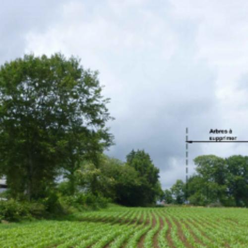 Projet construction d''un hangar agricole pour le stockage de fourrages et de matériel - Secteur Pennaneach