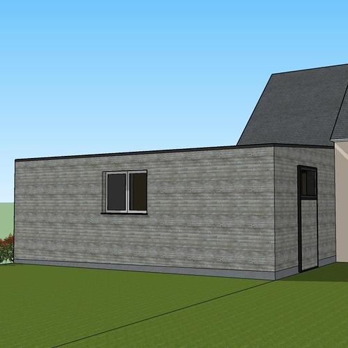 Projet d''extension - Abri de jardin et carport accolé à la maison -Évellys (56)
