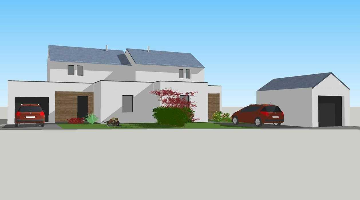 Construction de deux logements individuels sur une même parcelle v1-vue01