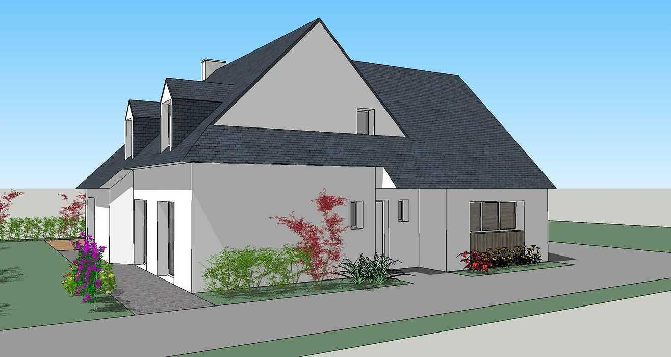 Extension d''habitation - Abri de jardin et carport 200427228apd3dvue2