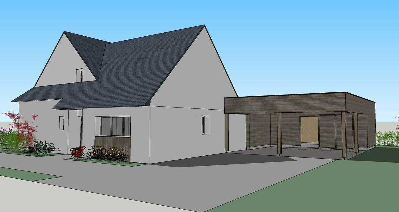 Extension d''habitation - Abri de jardin et carport 200427228apd3dvue3