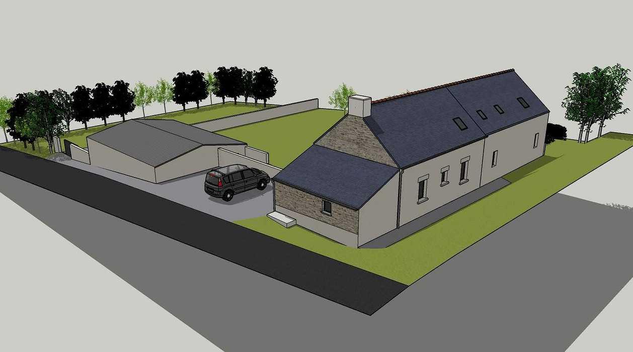 Démolition d''un appentis pour extension de maison + Construction de garage - Ploeuc l''Hermitage (22) 05