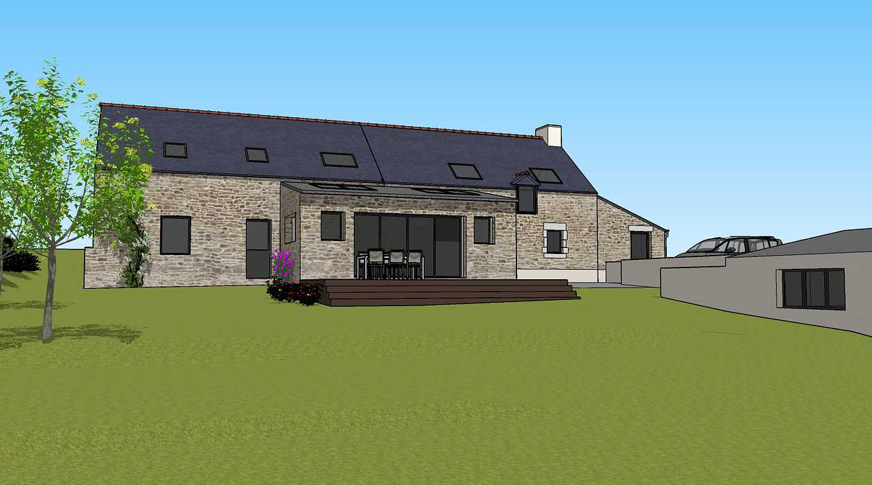 Démolition d''un appentis pour extension de maison + Construction de garage - Ploeuc l''Hermitage (22) 0