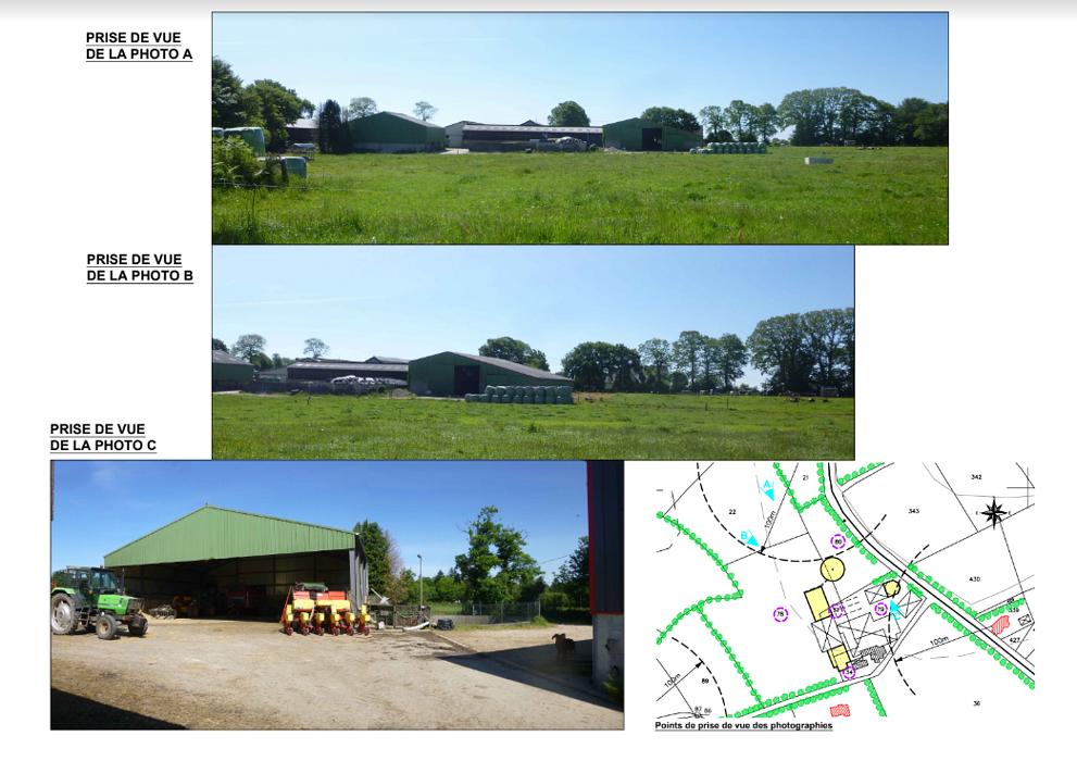 Construction étable vaches laitières / bloc de traite / fosse à lisier découvert - Secteur Scaer 0