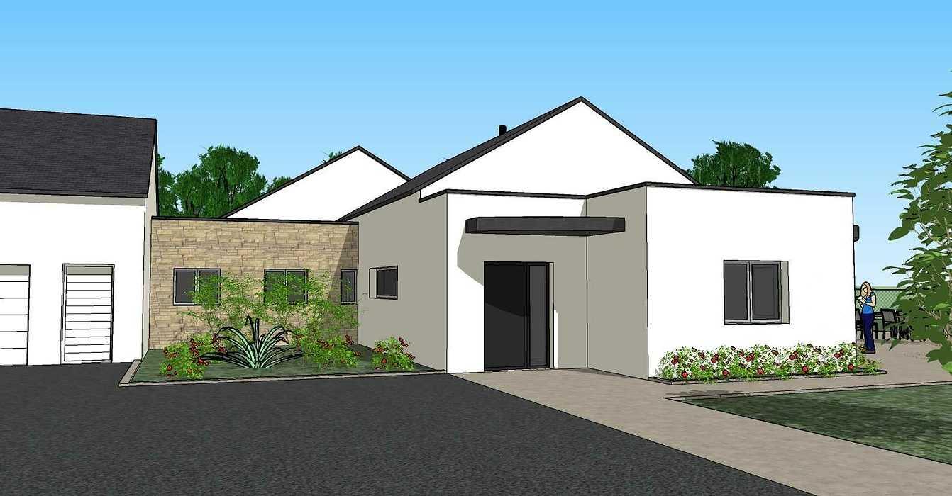 Création une maison d'habitation à Loudéac (22) Architecte : Isabelle Guillemin vue23d07.12.18