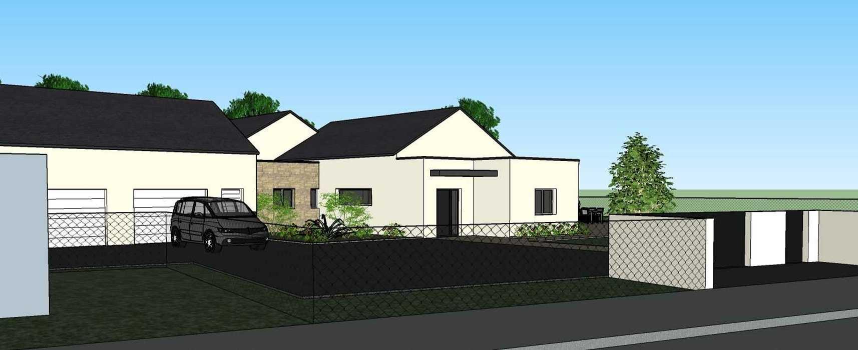 Création une maison d'habitation à Loudéac (22) Architecte : Isabelle Guillemin vue3dintegration