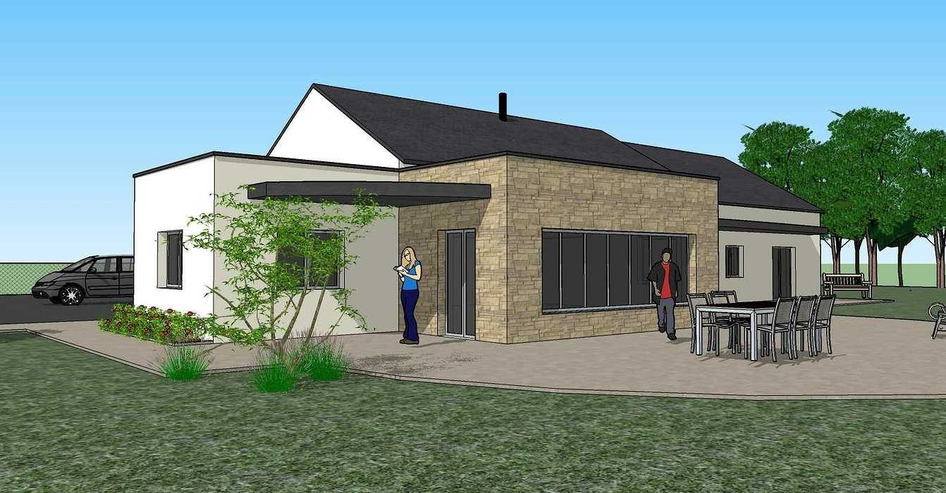 Création une maison d'habitation à Loudéac (22) Architecte : Isabelle Guillemin vue43d07.12.18