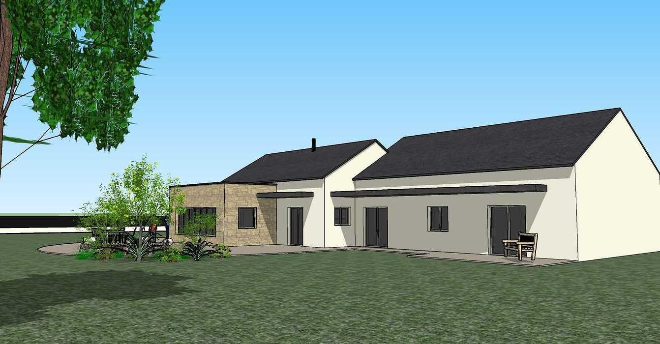Création une maison d'habitation à Loudéac (22) Architecte : Isabelle Guillemin vue53d07.12.18