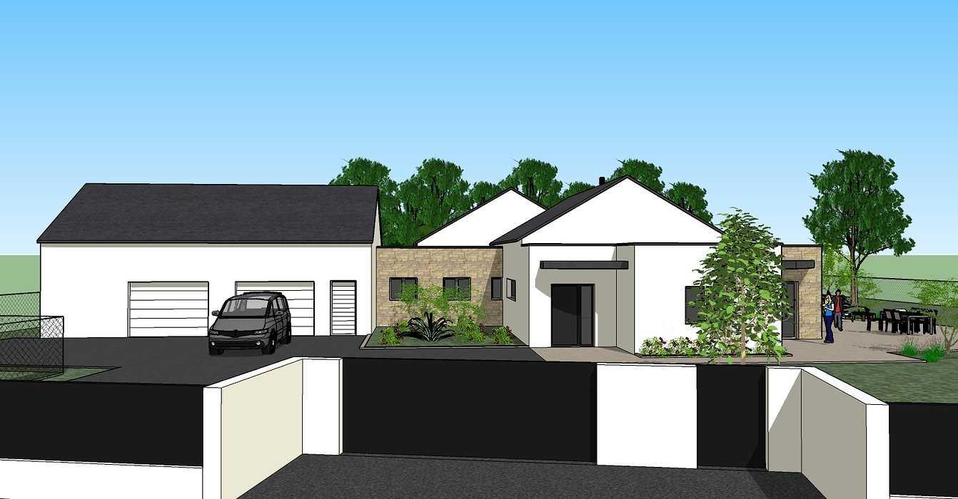 Création une maison d'habitation à Loudéac (22) Architecte : Isabelle Guillemin 0