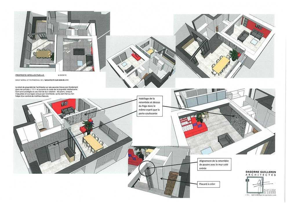Réaménagement intérieur d''une maison réalisée dans les années 2000 faisaburlot1